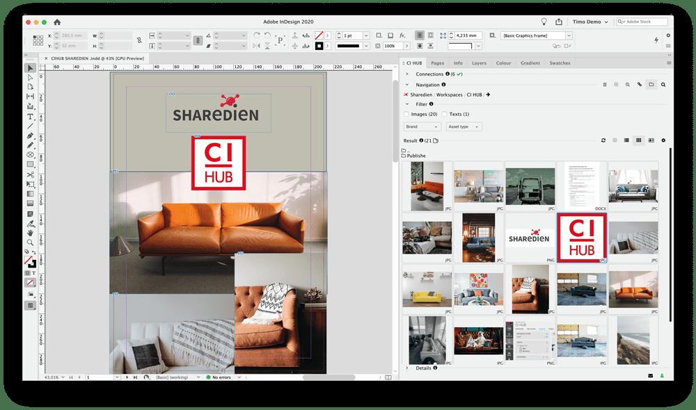 Screenshot CI HUB Integration